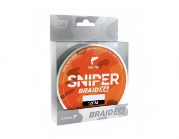 Шнур Salmo SNIPER BRAID X4 ARMY GREEN 120/0,148